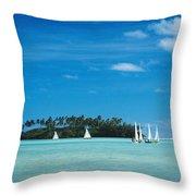 Cook Islands, Rarotonga Throw Pillow
