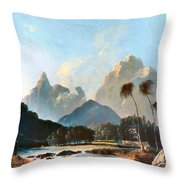 Cook: Tahiti, 1773 Throw Pillow