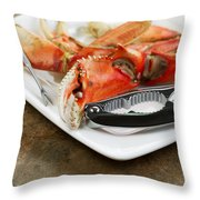 Cooked Crab Ready To Eat  Throw Pillow