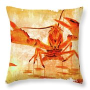 Cooked Lobster On Parchment Paper Throw Pillow