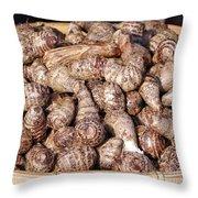 Cooked Taro Root Throw Pillow