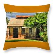 Cookhouse Theater Lahaina Throw Pillow