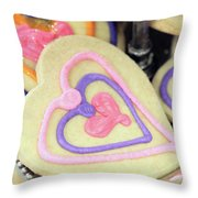 Cookie Heart Throw Pillow