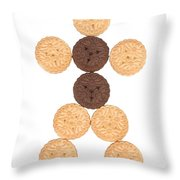 Cookie Man Throw Pillow