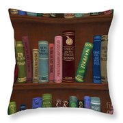 Cookin' The Books Throw Pillow