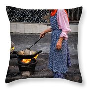Cooking Breakfast  Throw Pillow