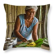Cooking For Guests Throw Pillow