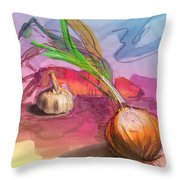 Cooking In Spain Throw Pillow