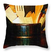 Cooking Retro Throw Pillow