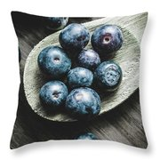 Cooking With Blueberries Throw Pillow