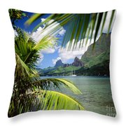Cooks Bay With Sailboat Throw Pillow