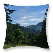 View Of Underwood Mountain Throw Pillow