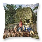 Cook:sandwich Islands 1779 Throw Pillow