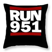 951 Design Run California Gifts 951 Shirt Throw Pillow