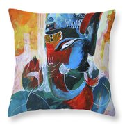 Cool And Graphical Lord Ganesha Throw Pillow