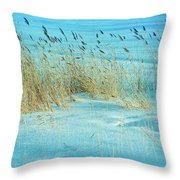 Cool Blue Blowing In The Wind Throw Pillow