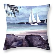 Cool By The Rocks Throw Pillow
