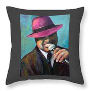 Cool Cat With The Hat Throw Pillow