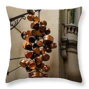 Cool Copper Pots - Parisian Restaurant Left Bank La Rive Gauche Throw Pillow
