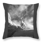 Cool Deer 2 Throw Pillow