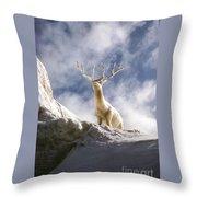 Cool Deer Throw Pillow