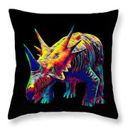 Cool Dinosaur Color Designed Creature Throw Pillow