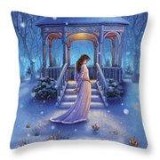 Cool Down - Crocus Throw Pillow by Anne Wertheim