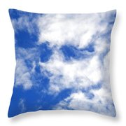 Cool Face In The Blue Sky Throw Pillow