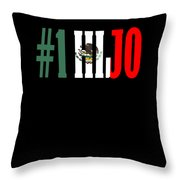 Hijo Gift Mexican Design For Mexican Flag Design For Mexican Pride Throw Pillow