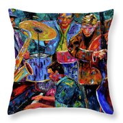 Cool Jazz Throw Pillow