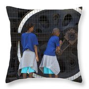 Cool Kids Throw Pillow