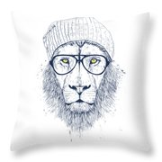 Cool Lion Throw Pillow