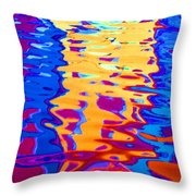 Cool Meets Warm Throw Pillow
