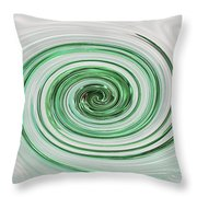 Cool Mint Whip Throw Pillow