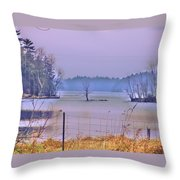 Cool Morning In Vermont Throw Pillow