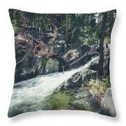 Cool Mountain Stream Throw Pillow