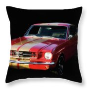 Cool Mustang Throw Pillow