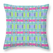 Cool Plaid No. 5 Throw Pillow