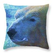 Cool Polar Bear Throw Pillow