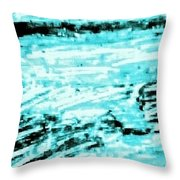 Cool Sea Throw Pillow