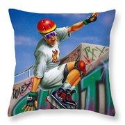 Cool Skater Throw Pillow