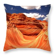 Cool Spring Day At The Wave Throw Pillow