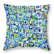 Cool Squares And Shapes Throw Pillow