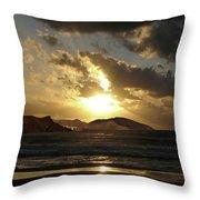Cool Sunrise Throw Pillow