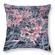 Cool Sunset Field Of Tiger Lillies Throw Pillow