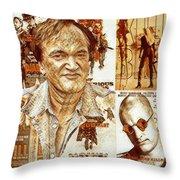 Cool Tarantino Poster Throw Pillow