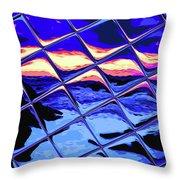 Cool Tile Reflection Throw Pillow