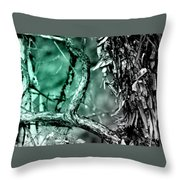 Cool Tone Madrone  Throw Pillow