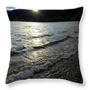 Cool Waters Sunset Throw Pillow