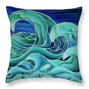 Cool Waves 3-  Throw Pillow